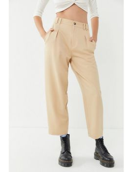 Uo Pleated Cropped Cocoon Pant by Urban Outfitters