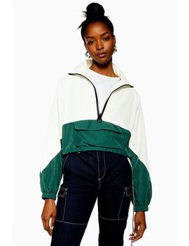 Cropped Windbreaker Jacket by Topshop