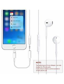 Headphone Adapter For I Phone X Adaptor To 3.5mm Converter Earphone For I Phone Xs/Xs Max 8/8 Plus 7/7 Plus Accessories Headphone Cable Splitter Audio Jack Headphone Cable Earbud Adapter Support I Os 12 by Daeeto
