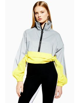 Reflective Windbreaker Jacket by Topshop