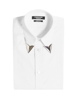 Cotton Shirt With Collar Tips by Calvin Klein 205 W39 Nyc