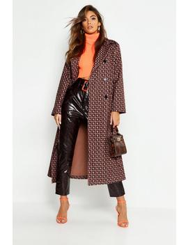 Patterned Trench by Boohoo