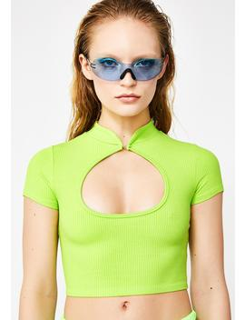Nuclear Nonstop Shade Cut Out Top by Better Be