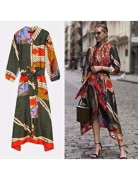 Zara Printed Tunic Dress With Belt Size S by Ebay Seller