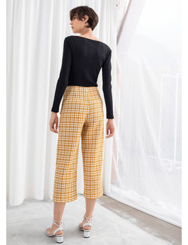 Cross Stitch Wide Trousers by & Other Stories