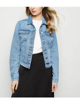 Bright Blue Boxy Denim Jacket by New Look