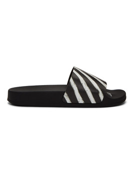 Black Spray Slides by Off White