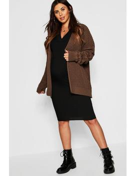 Maternity Chunky Knit Cardigan by Boohoo