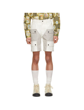 White Organic Waterproof Hiking Shorts by Phipps