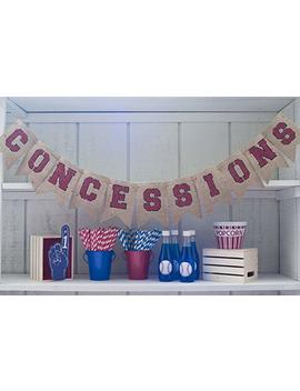 Concessions Painted Burlap Banner by Swanky Party Box