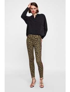 Jeans Zw Premium Skinny Animal Velvet Band  Jeanswoman Sale by Zara