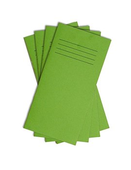 Slim Pocket Vocabulary Notebook   Green Cover Spelling Time Table Address Book 24 Pages Educational Standard 8mm Lined   Pack Of 5   200mm X 100mm   By Party Decor by Party Decor