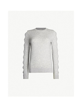 Danikaa Bow Detail Knitted Waffle Knit Jumper by Ted Baker