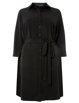 **Dp Curve Black 3/4 Sleeve Shirt Dress by Dorothy Perkins
