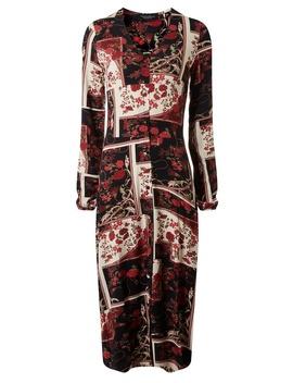 Multi Colour Rose Print Midi Shift Dress by Dorothy Perkins