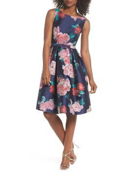 Floral Fit & Flare Dress (Regular & Petite) by Eliza J