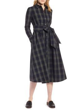Plaid Midi Shirtdress (Regular & Petite) by 1901