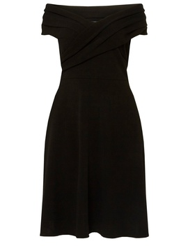 **Dp Curve Black Bardot Fit And Flare Dress by Dorothy Perkins