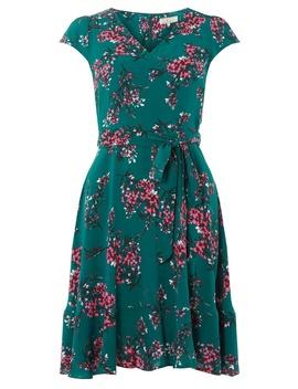 **Billie & Blossom Green Flute Hem Skater Dress by Dorothy Perkins