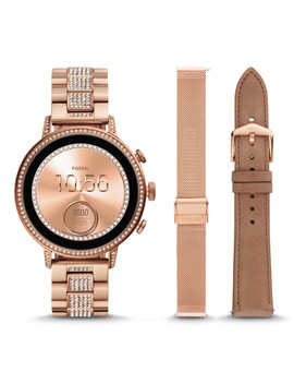 Gen 4 Smartwatch   Venture Hr Rose Gold Tone Stainless Steel Interchangeable Strap Box Set by Fossil