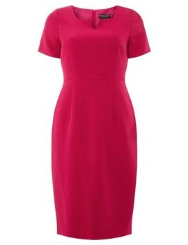 Pink Notch Neck Pencil Dress by Dorothy Perkins