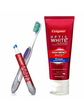 Colgate Optic White Toothpaste And Whitening Pen 2 In 1 Teeth Whitening Kit by Colgate