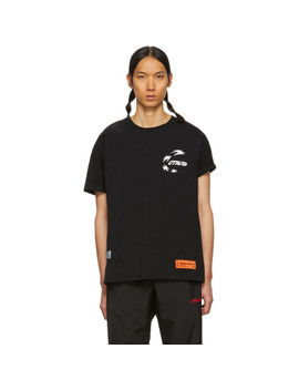 Black Chinese Herons T Shirt by Heron Preston