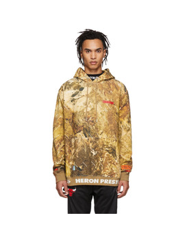 Brown Camouflage Hoodie by Heron Preston