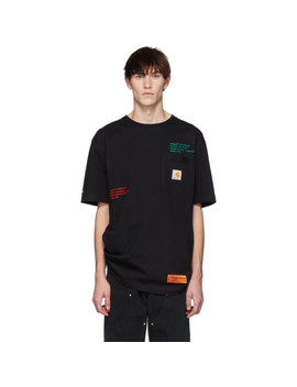 Black Carhartt Edition T Shirt by Heron Preston