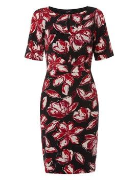 *Roman Originals Multi Colour Foil Floral Print Bodycon Dress by Dorothy Perkins