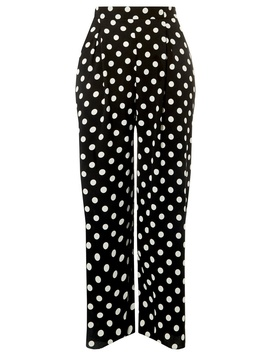 **Dp Curve Monochrome Spotted Palazzo Trousers by Dorothy Perkins