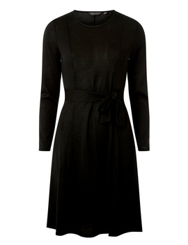 Black Tie Waist Cut And Sew Skater Dress by Dorothy Perkins
