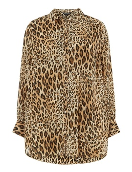 **Dp Curve Multi Colour Leopard Print Collared Shirt by Dorothy Perkins
