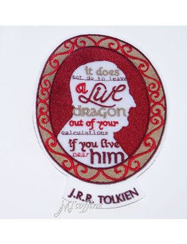 J.R.R. Tolkien Quote Cameo Frame Iron On Embroidery Patch Mt Coffinz by Etsy