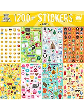 Josephine On Caffeine Year Round Sticker Assortment Set (1200+ Count) Collection For Children, Teacher, Parent, Grandparent, Kids, Craft, School, Planners & Scrapbooking by Josephine On Caffeine