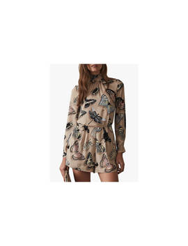 Reiss Gail Butterfly Print Playsuit, Multi by Reiss