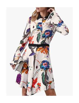 Reiss Harlinne Floral Print Shirt Dress, Multi by Reiss