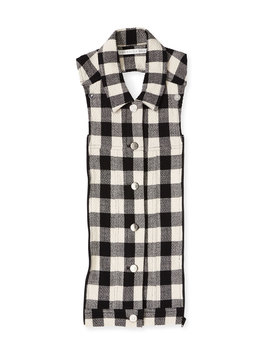 Slate Gingham Button Front Dickey by Veronica Beard