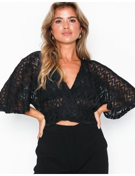 Lace Wrap Top by Nly Trend