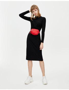 High Neck Midi Dress by Pull & Bear