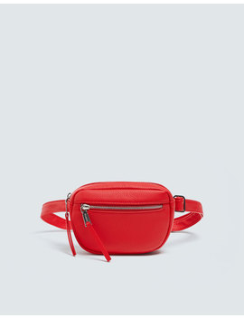Red Belt Bag With Zip Details by Pull & Bear