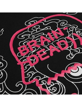 Brain Dead X Sasquatch Fabrix 32 Print T Shirt Black by Brain Dead