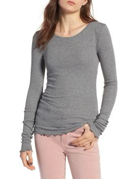 Lettuce Edge Ribbed Top by Hinge