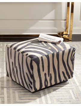 Morano Hairhide Ottoman by Massoud