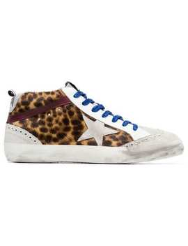 Multicoloured Mid Star Leopard Print Leather Ponyskin Sneakers by Golden Goose Deluxe Brand