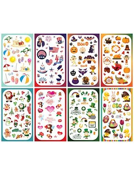 Koobar Year Round Holiday Stickers Variety Pack: Fun Assortment Of Designs For A Whole Year (400+ Stickers) by Koobar