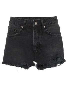 Black Tongue N Cheek Distressed Denim Shorts by Ksubi