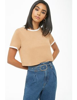 Cropped Ringer Tee by Forever 21