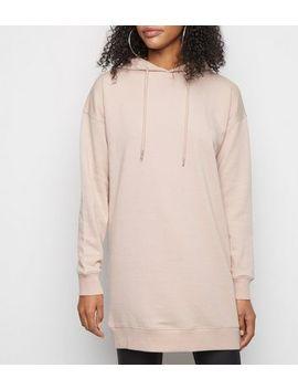 Pale Pink Longline Hoodie by New Look