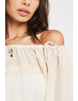 Uo Jade Embroidered Blouse by Urban Outfitters